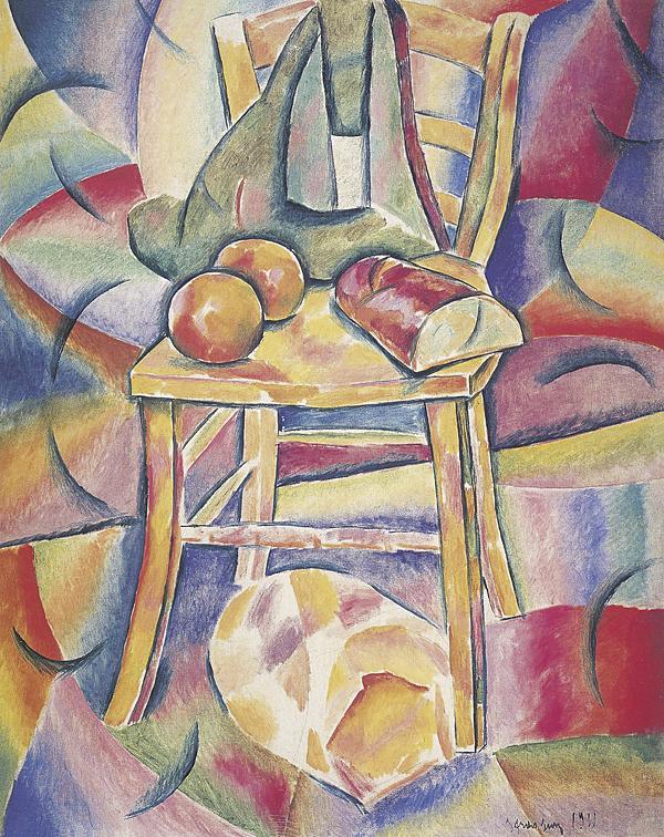 В. Баранов-Россине. Натюрморт со стулом. 1911 г.