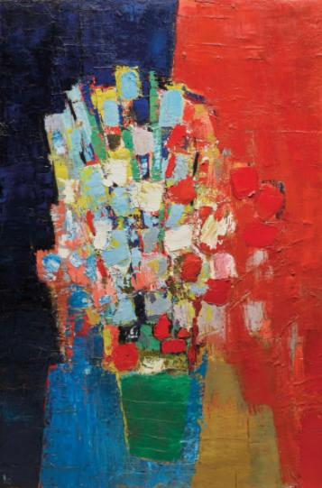 Никола де Сталь. «Цветы». 1952 г.